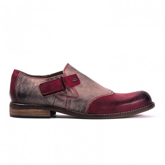scarpa pantofola bicolore