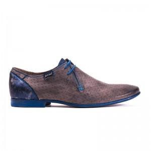 scarpa elegante stringata grigia