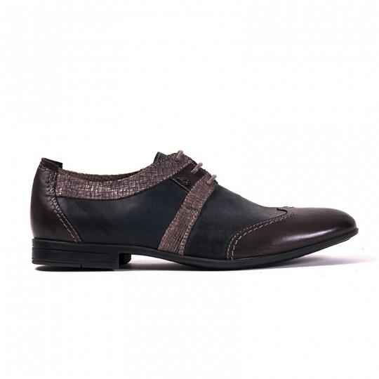 scarpa stringata bicolor