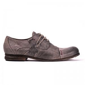 scarpa stringata grigia