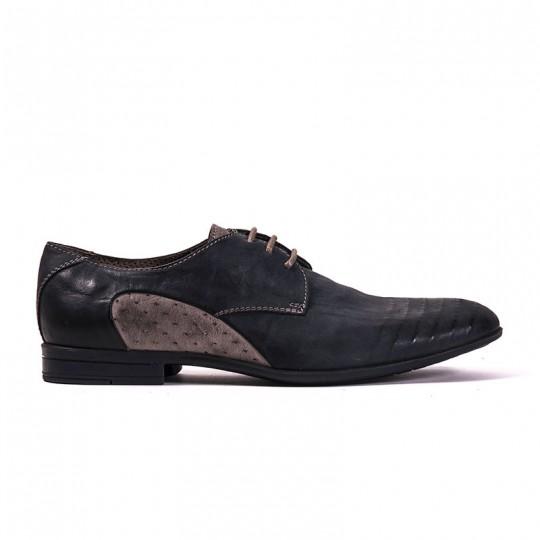 scarpa stringata blu